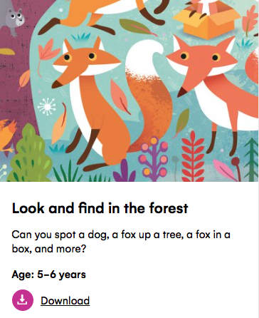 look and find in the forest petit londoner
