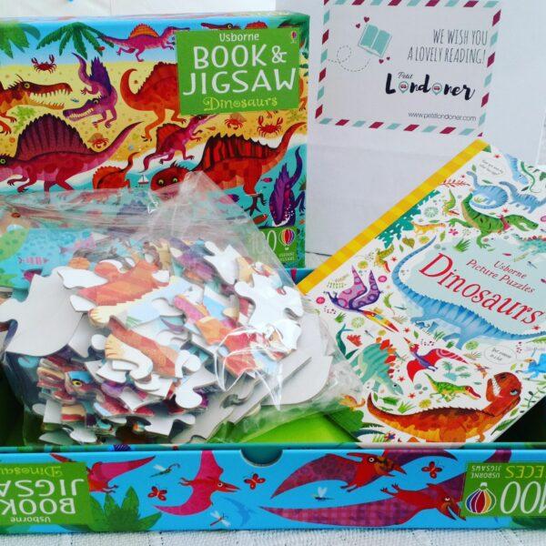 Dinosaurios- Puzzle y Libro +5 años