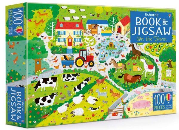 On the farm Puzzle + Libro