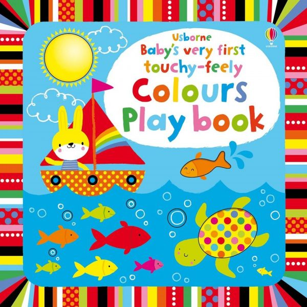 Touchy-feely colours play book + 6 meses