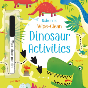 Wipe-clean dinosaur activities +3 años