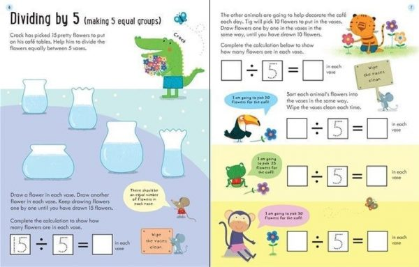 Wipe-clean dividing 6-7 años