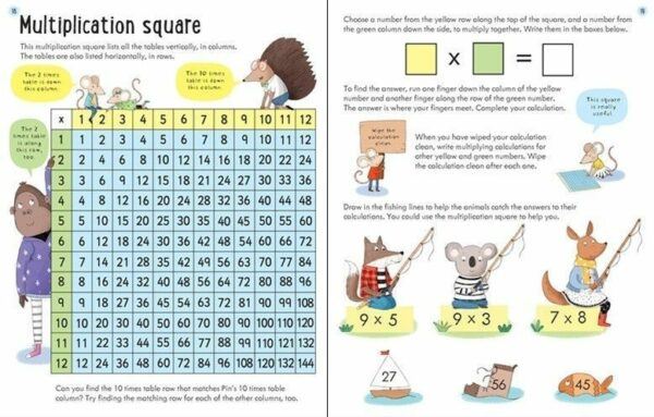 Wipe-clean times tables 7-8 años