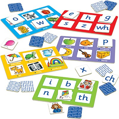 orchard toys alphabet lotto game contents