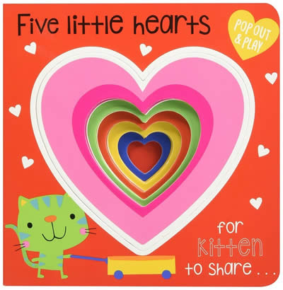 POP-OUT AND PLAY FIVE LITTLE HEARTS